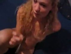 Kinky amateur GF gets poked doggy style after giving deepthroat blowjob