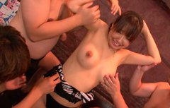 Japanese starlet with big tits Buruma Aoi gets toyed by egg vibrators