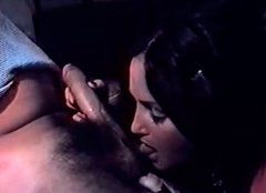Tempting brunette with hairy pussy masturbates and fucks hard