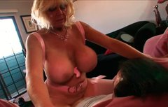 Bootylicious granny with big tits rides her man's dick like a cowgirl