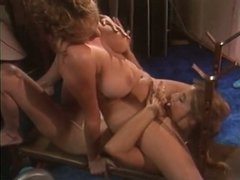 Big breasted lesbians lick each other's delicious pussies like mad