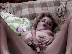 Hot lesbians lick each other's hairy pussies tenderly and sensually