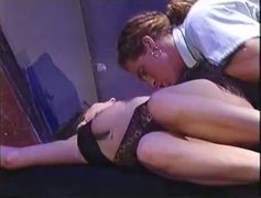 Superb brunette gets her muff fucked in missionary position