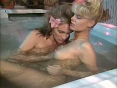 Marvelous lesbian hotties lick each other's wet pussies like mad