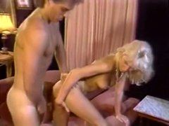 Blond bitch gets her ugly flaccid kitty shagged from behind