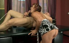 Disgusting old brunette LUPITA gets nailed from behind in tough way