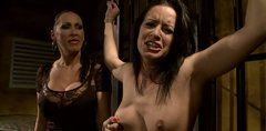 Tied up brunette with small tits has to know the pleasure of torture