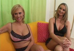 Lustful lesbians Carly Parker and Aline are talking about sex preferences