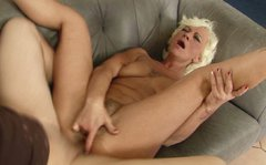Unbelievably horny granny gets her anus fucked hard