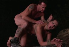 Hot blooded Lisa Sparkle gets anal fucked in doggy style in BDSM