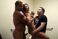 Awesome cowgirl Estrada gets fucked doggy and sucks a tasty dick (MMF)