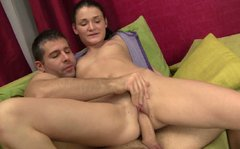 Hussy jade Kitty is hammered bad in a missionary position