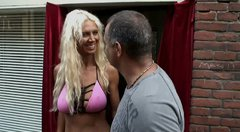 Spoiled dudes Ricardo & Hook from South Africa interviews hot busty blond slut