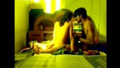 Amateur Indian couple wanna gain delight and reach orgasm pleasing each other on cam