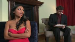 Gorgeous Indian sexploitress Priya Anjali Rai seduces her therapist