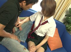 Playful Japanese amateur Yui Misaki gets her beaver tongue fucked in doggy style