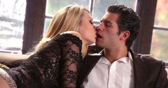Dazzling blonde Natalia Starr gives hot blowjob to her boyfriend