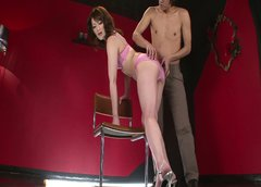 Cuddly Japanese harlow gets her vagina stretched hard by kinky BF