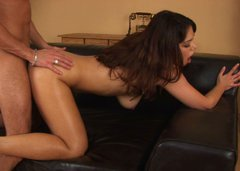 Fabulous brunette Samantha likes to serve a man with titjob