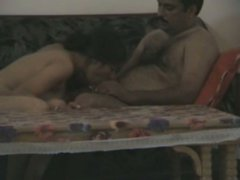 Chubby Indian hoe is sucking dick in dirty amateur sex video