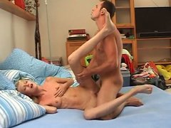 Titless pallid blond amateur slut rides her boyfriend's dick like a mad one