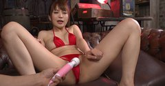 Asian cutie Maomi Nagasawa gets her pussy stimulated with vibrator