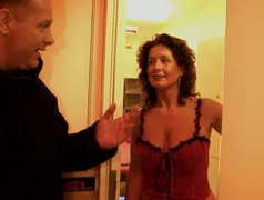 Horny dude Bruno from Italy asks a real curly slut to please his dick