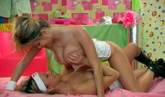 Sexy girl Lucie is having passionate lesbian sex