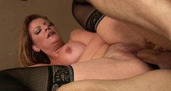 Passionate mom is riding strong dick frantically