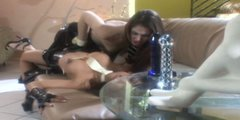 Mind taking Asian babe Kina Kai gets her cunt fucked with dildo by rapacious lesbian