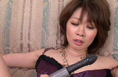 Rio Kagawa is plugged in her both fuck holes