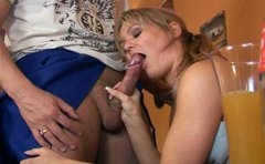 Sexy girl Viola is sucking dick and washing balls professionally