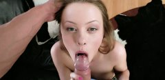 Pale skin hoe is drilled in her asshole doggy style