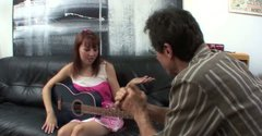 Tempting hottie Delila Darling gets fucked hard by guitar teacher