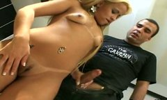 Thirsting for cum Latina nympho gives a blowjob right in the billiard hall