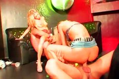 Wet and messy night club party turns into an awesome group sex orgy