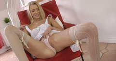 Angelic Teena Dolly flashes her privates in a hot solo masturbation porn clip
