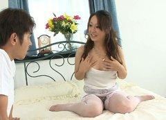 Sensual oriental lady Ruhime Maiori gets molested by her mate