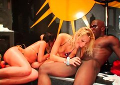 Spectacular orgy party with plenty of action