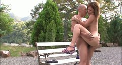 Outdoor sex fun with hussy Japanese girl AIKA