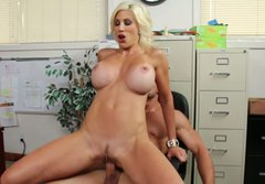 Juicy milf Puma Swede is making love with hot tempered fuck buddy