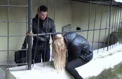 Sizzling blondie Lindsey gives a head to hard cock in public
