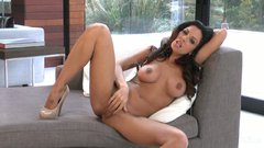 Buxom appetizing babe Kirsten Price goes solo for pleasing her wet pussy