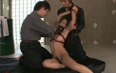 Bounded busty sweetie from Japan Satomi Suzuki is used in threesome