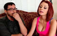 Aroused jerk eats steamy pussy of red-haired Jessica Robbin