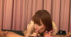 Sweet Japanese chick Minefuji Kou likes it deeper in her throat