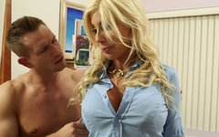 Jaw-dropping model Puma Swede is seduced by handsome young stud