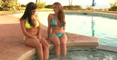 Two fantastically beautiful babes Emily Addison and Taylor Vixen are pleasuring one another in a spicy lesbian sex video