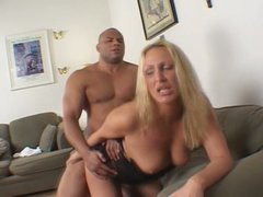 Insatiable blond slut Mandy Bright gets drilled by kinky black dick