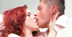 Sexy redhead Amarna Miller gets her pussy eaten clean